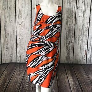 Michael Kors ruffle silk dress size 8